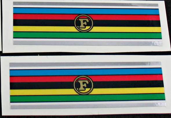 Frejus Olympic Band Decals with Chrome Borders - 1 Pair