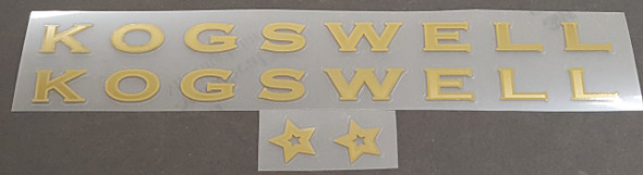 Kogswell Decal Set - Mirror Gold Outline