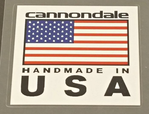 Cannondale Handmade in USA Decal