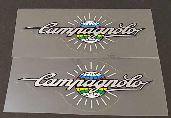Campagnolo Top Tube Decals - 1 Pair - Silver
