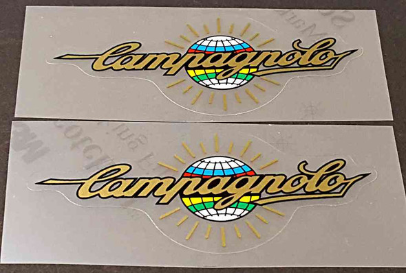 Campagnolo Top Tube Decals - 1 Pair - Metallic Gold