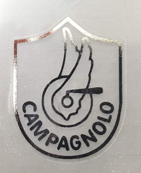Campagnolo Head Badge Decal #3 in Chrome