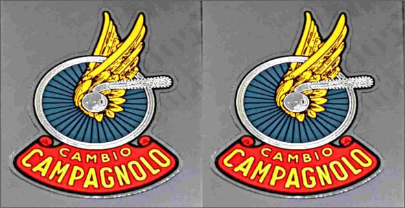 Campagnolo Classic Tubing Decals - Chrome - 1 Pair