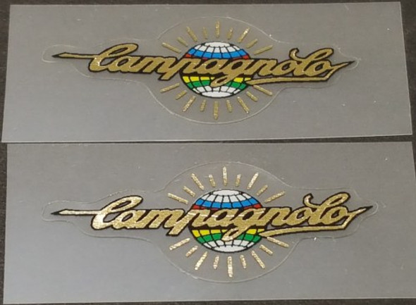 Campagnolo Tubing Decals - 1 Pair - Mirror Gold