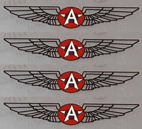 Airborne Wings Decals - Set of 4 - Choose Color