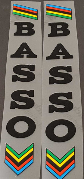 Basso Seat Tube Decals - Choose Color