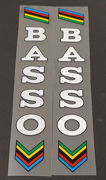 Basso Seat Tube Decals w/Outline - Choose Color