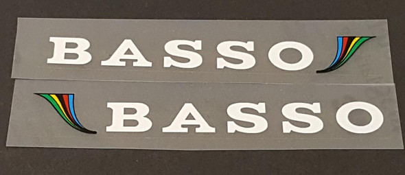 Basso Stay Decals w/Colors - 1 Pair - Choose Color