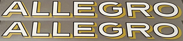 Allegro Down Tube Decals - 1 Pair - Choose Color