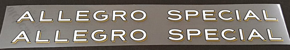 Allegro Special Down Tube Decals - 1 Pair - Choose Color