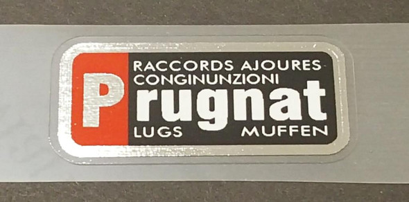Bob Jackson Prugnat Tubing Decal - Red/Black - Chrome Border