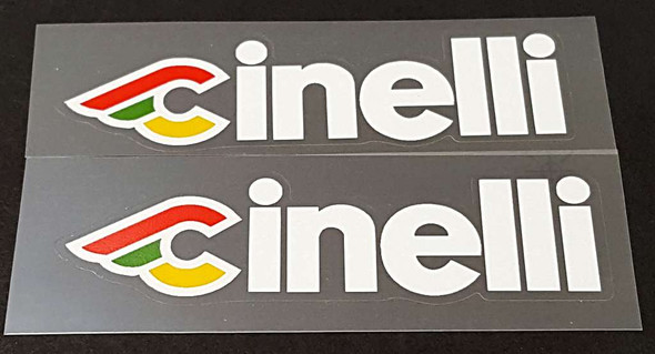 Cinelli Down Tube Decals - 1 Pair - Choose Color/Size