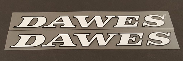 Dawes Down Tube Decals w/outline - 1 Pair - Choose Colors