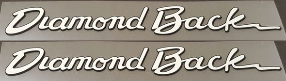 Diamond Back Down Tube Decals - 1 Pair - Choose Colors