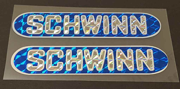 Schwinn Bicycle Sting Holographic Stay Decals - 1 Pair - Blue