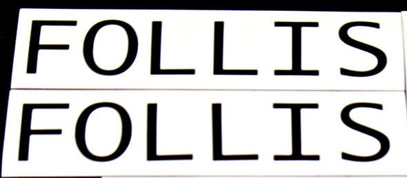 Follis Bicycle Down Tube Decals - 1 Pair - Choose Color