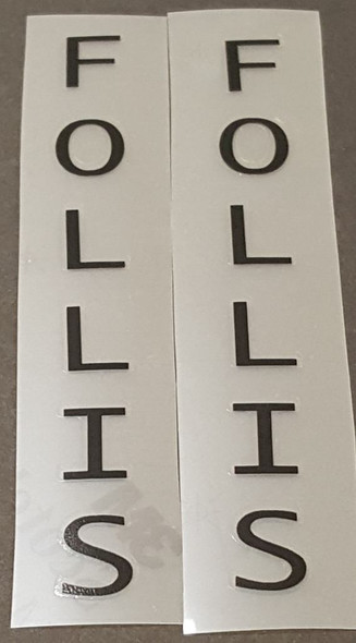 Follis Bicycle Seat Tube Decals - 1 Pair - Choose Color