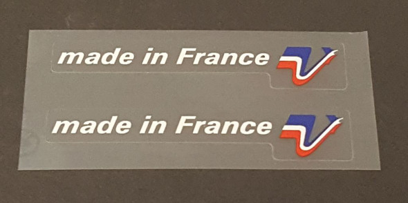 Peugeot  Made in France Decals - 1 Pair - White