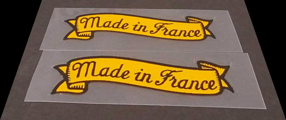 Made in France Decals - 1 Pair - Yellow Banner