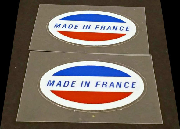Made in France Decals - 1 Pair - Oval
