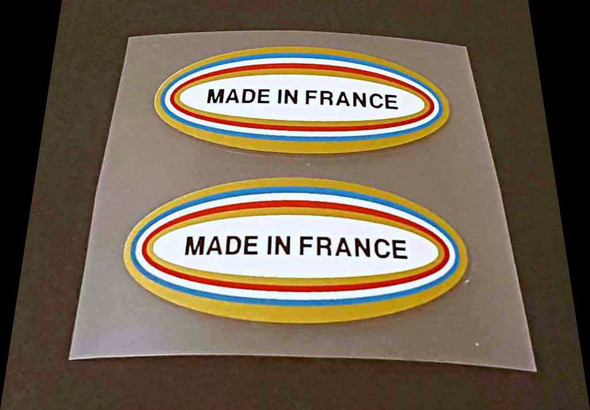 Made in France Decals - 1 Pair - Fancy Oval Large