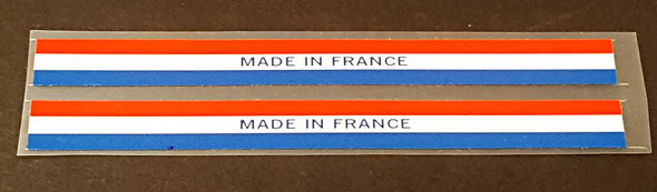 Made in France Bicycle Decals - 1 Pair - Stripes
