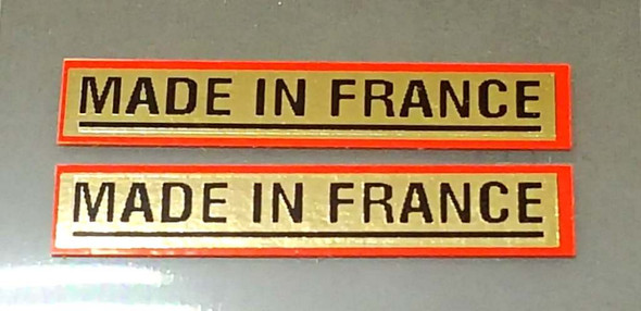 Made in France Bicycle Decals - 1 Pair - Mirror Gold