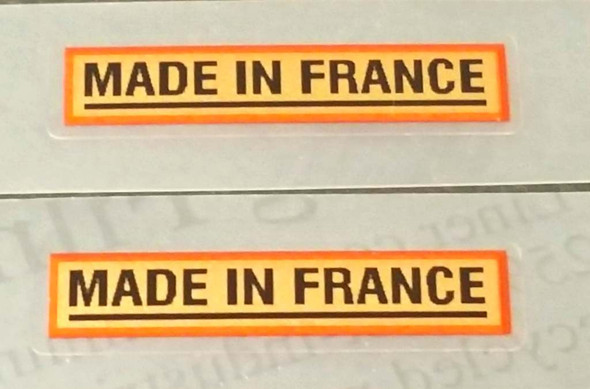 Made in France Bicycle Decals - 1 Pair - Metallic Gold