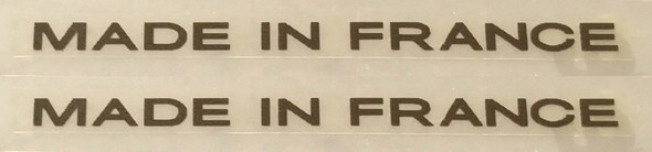 Made in France Bicycle Decals - 1 Pair - Choose Color