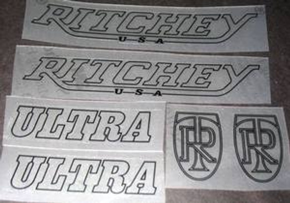 Ritchey 1986 Ultra Bicycle Decal Set