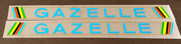 Gazelle Bicycle Down Tube Decals - 1 Pair - Choose Color