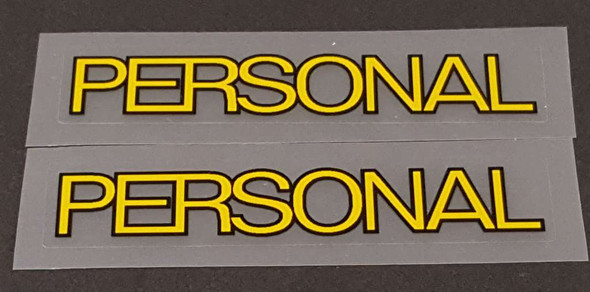 Gianni Motta Bicycle Personal Top Tube Decals w/outline- 1 Pair - choose color