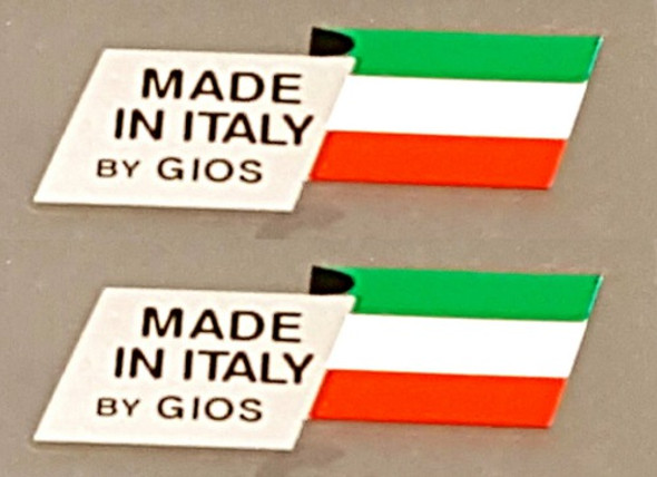 Gios Bicycle Made in Italy Decals - 1 Pair