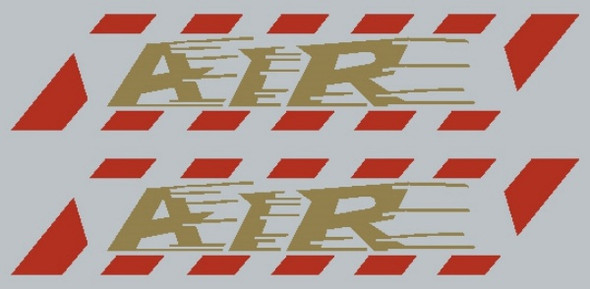 Somec Air Stay Decals w/Border - 1 Pair - Choose Colors