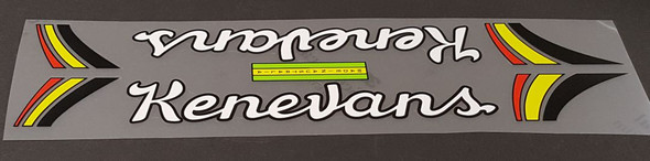 Kenevans Bicycle Down Tube Wrap Decal - Choose Letter Colors