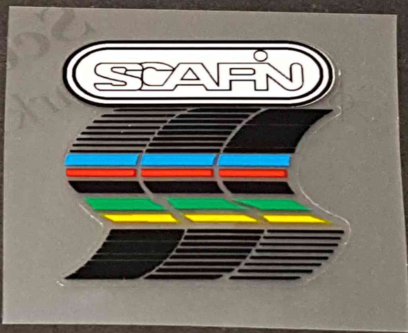 Scapin Bicycle Head Badge Decal - White on White