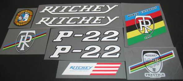 Ritchey 1990s P-22 Bicycle Decal Set