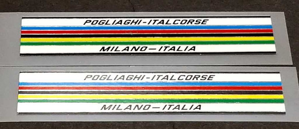 Pogliaghi Bicycle Chrome Stripes Decals - 1 Pair