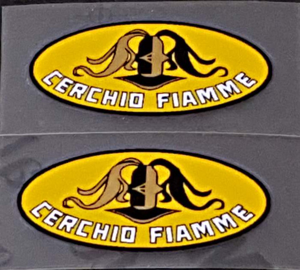Fiamme Cerchio Rim Decals w/Yellow Background - 1 Pair