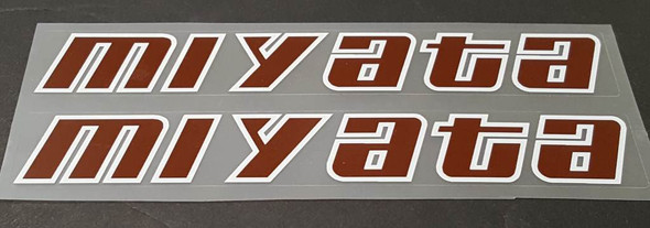 Miyata Down Tube Decals - Brown/White - Half Price