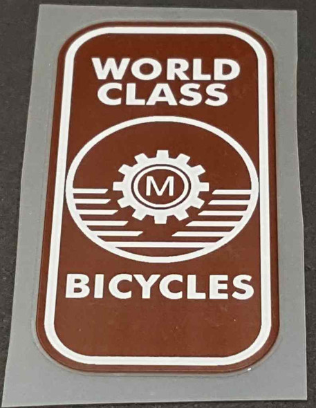 Miyata Head Badge Decal - Brown/White - Half Price