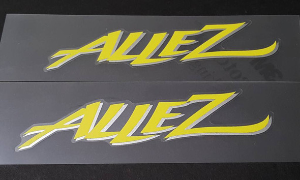 Specialized Allez Down Tube Decals with Heavy Duty Matte Laminate - Lemon/Silver - Half Price