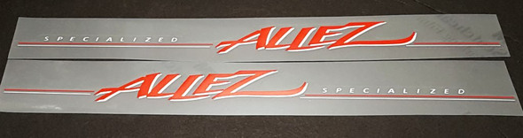 Specialized Allez Down Tube Decals - Intense Red / Silver - Half Price