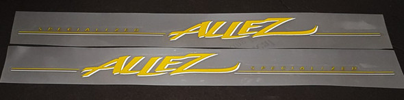 Specialized Allez Down Tube Decals - Yellow/Silver - Half Price