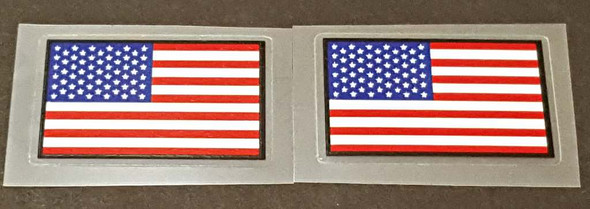 USA Flag Decals with Black Border - 1 Pair