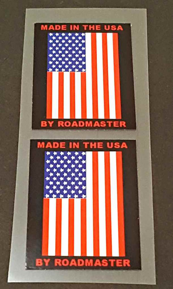USA Roadmaster Flag Decals - 1 Pair