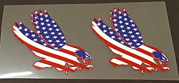 USA Flag/Eagle Decals - 1 Pair - Right Facing