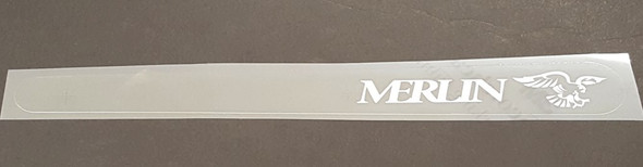 Merlin Chain Stay Protector Decal - White on Clear