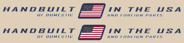 "Trek ""Handbuilt in USA"" Stay Decals - 1 Pair"