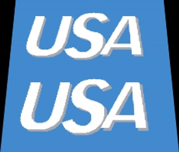 Trek Bicycle USA Decals with Shadow - 1 Pair - Choose color